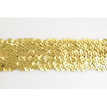 Sequin ribbon gold 45mm, elastic