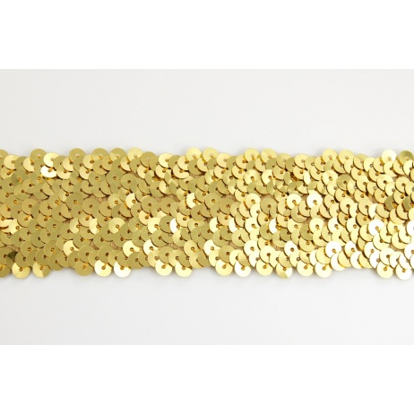 sequin ribbon gold 45mm elastic