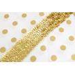 Sequin ribbon gold 45mm, elastic