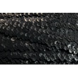 Sequin ribbon black 30mm, elastic