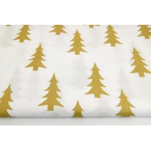 Cotton 100% golden Christmas tree on a white background