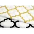 Cotton 100% golden moroccan trellis on a white background