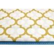 Bawełna 100% złota koniczyna marokańska na białym tle