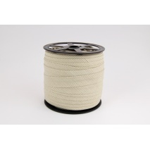 Cotton bias binding small beige stripes