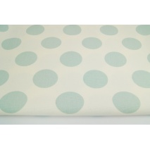 HOME DECOR large polka dots powder mint on a creamy background 220g/m2