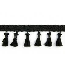 Tasiemka z frędzlami czarna 5cm