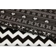 100% Cotton scandinavian pattern on a black background