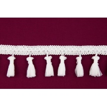 Ribbon with fringes white 5cm