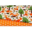 Cotton 100% orange foxes in the forest