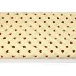 Cotton 100% brown stars on a cream background