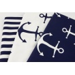 Home Decor, navy stripes 15mm on a white background 220g/m2