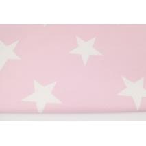 Home Decor, duże gwiazdy na pastelowym różu 220g/m2