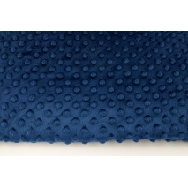 Dimple dot fleece minky navy