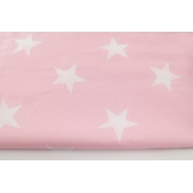 Cotton 100% big stars on a pastel pink background