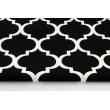 Home Decor, koniczyna marokańska na czarnym tle 220g/m2