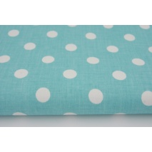 Cotton 100% turquoise polka dots 10mm