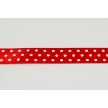 Ribbon red dotted 19mm