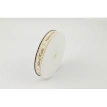 "Cotton ribbon with the words ""Hand Made"" 15mm"