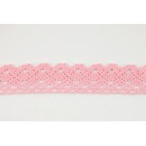 Koronka bawełniana 28mm, różowa