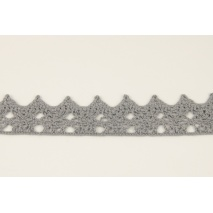 Cotton lace 25mm, gray