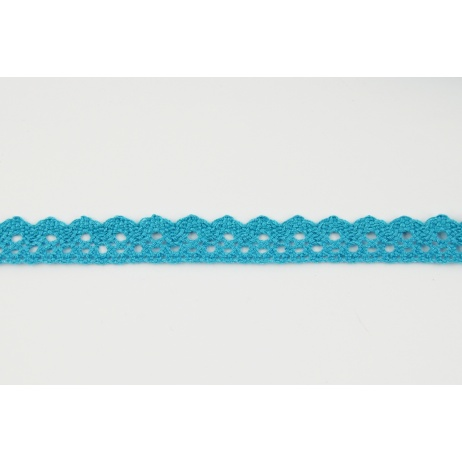 Cotton lace 15mm in a turquoise color