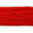 Cotton lace 15mm in a red color (wave)