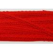 Koronka bawełniana 15mm, czerwona (fala)