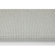Cotton 100% small grey check (darker)