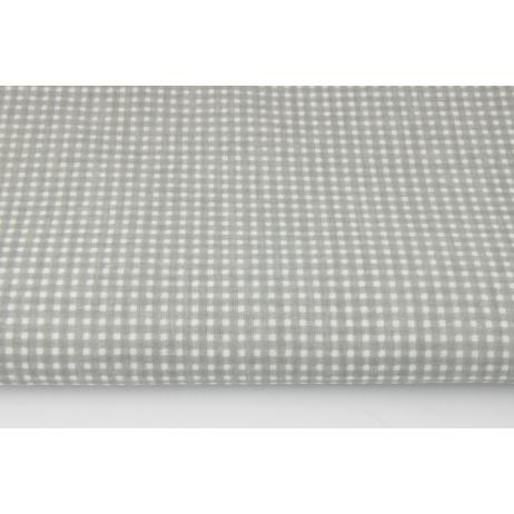 Cotton 100% small grey check (darker)