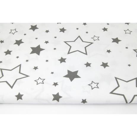 Cotton 100% dark gray stars XL on a white background