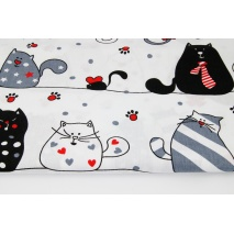 Cotton 100% large cats on a white background