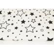 Cotton 100% black stars XL on a white background
