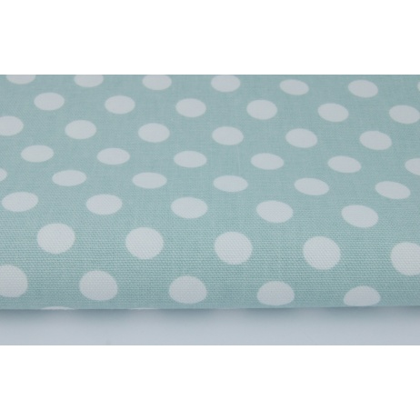 Home Decor, dots 12mm on a mint background 220g/m2