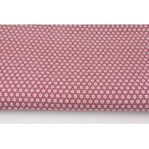 Bawełna 100% małe diamenty na bordowym tle