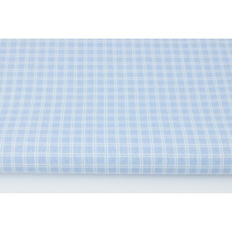 Bawełna 100% niebieska podwójna krateczka (batyst)