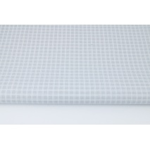 Cotton 100% batiste, double light gray check (very soft)
