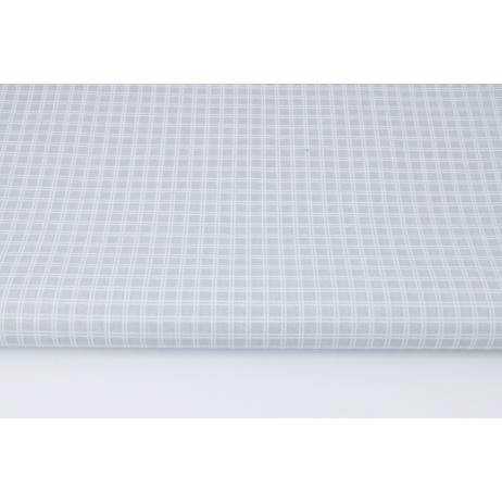 Bawełna 100% jasnoszara podwójna krateczka (batyst)