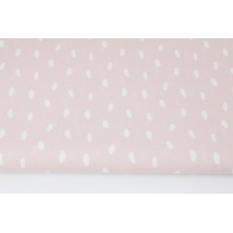 Cotton 100% pebbles on a powder pink background