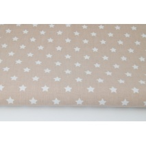 Cotton 100% stars on a pink-beige background