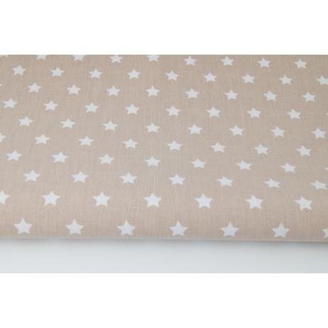 Bawełna 100% gwiazdki na różowo-beżowym tle
