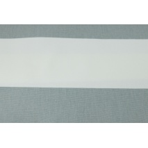 Home Decor, gray stripes 9.5 cm on a white background 220g/m2