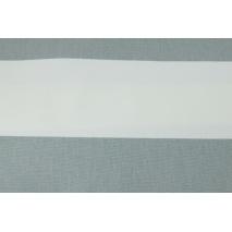 Home Decor, pasy szare 9,5cm na białym tle 220g/m2