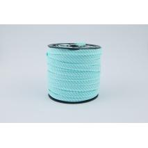 Cotton edging ribbon 2mm turquoise stripes