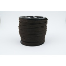 Cotton edging ribbon dark chocolate