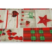 Bawełna 100% patchwork świąteczny