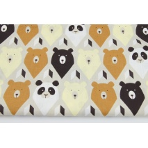 Cotton 100% bears on a beige background