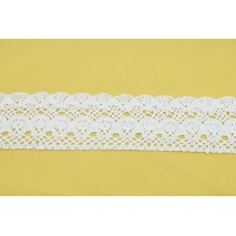 Cotton lace 75mm, white