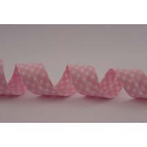 Cotton bias binding pink vichy check pattern