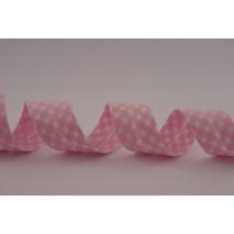 Lamówka bawełniana różowa krateczka vichy