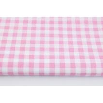 Bawełna 100% różowa krateczka 1cm
